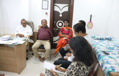 Guidance by Samir Ghosh to Nagai Narayanji Memorial Foundation (an organization working for corrective surgeries of children with disabilities), Nagpur, Apr 2019